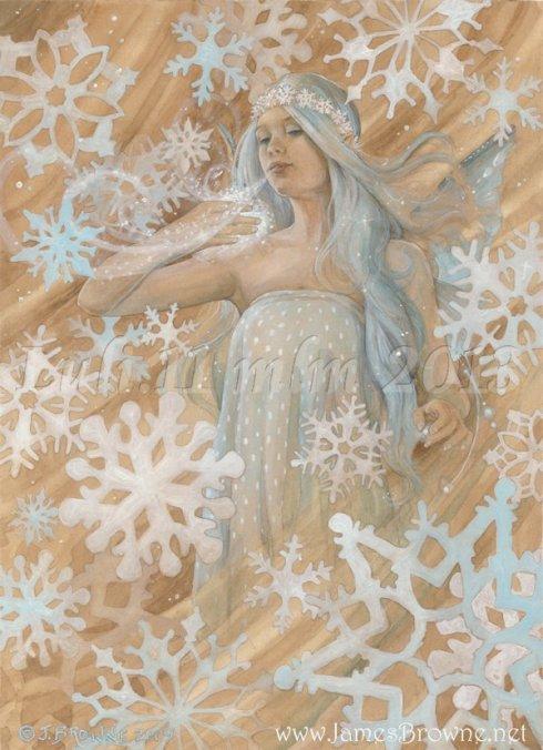 Le fate che crearono la neve - Fiocco di neve  James Browne - Luli.11 mlm 2013