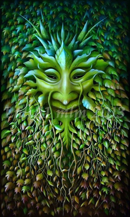 """Spiriti della Natura - J E. Shannon """"Fantasy.Green-Man"""" - Luli.11 mlm 2013"""