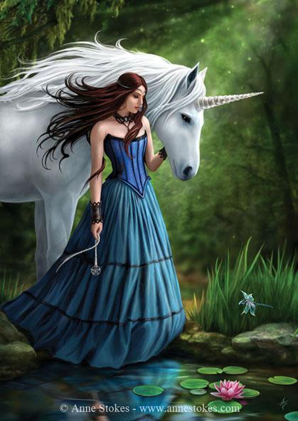 Fata unicorno Anne Stokes