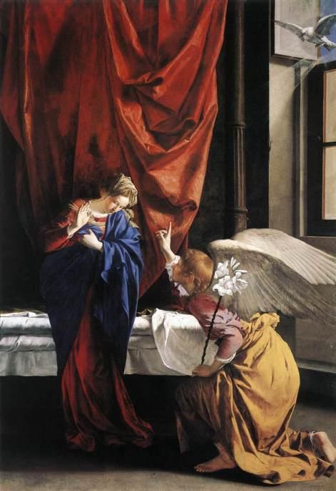 "Orazio Gentileschi (1563, Pisa - 1639, London), ""Annunciazione"","