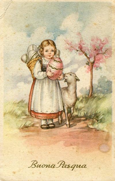 0 vintcartolina Pasqua anno 1940