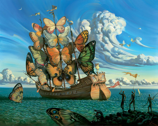 Vladamir Kush - «Departure of Winged Ship»