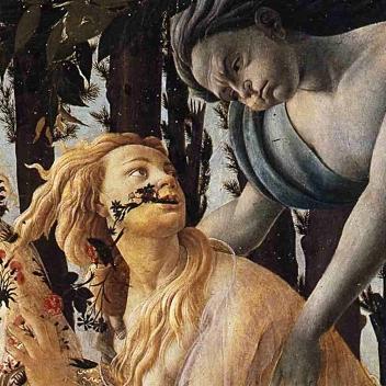 botticelli Zefiro ninfa Clori